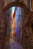 Alley and colorful old houses. Alley and colorful old house Royalty Free Stock Image