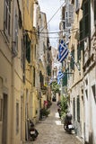 Alley in Corfu town, Greece Stock Image