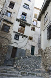 Alley at Cuenca. Narrow alleys in the old medieval town of Cuenca, Spain Stock Photography