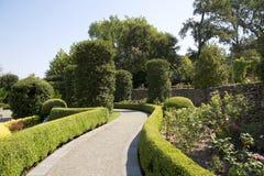 Alley in Dallas Arboretum. Beautiful Dallas Arboretum , TX USA Royalty Free Stock Photography