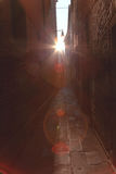 Alley in the darkness Royalty Free Stock Photos