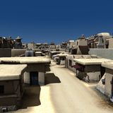 Alley - Day. 3D Render of an Alley - Day Stock Images