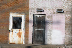 Alley Doors. Photograph taken of doors in a alley stock photography