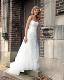 Alley Doorway and Bride Stock Photography