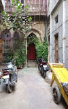 Alley Entryway New Delhi India stock photo