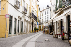 Alley Evora Portugal Royalty Free Stock Photo