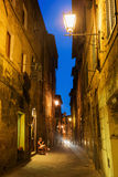 Alley in Florence, Italy, at night Royalty Free Stock Photos