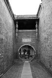 Alley of Ge Garden at YangZhou in Black & White. One of the old alleys in the garden stock photography