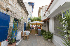Alley in a Greek village Stock Image