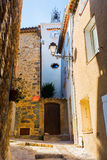 Alley in Grimaud, South France stock photography