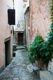 Alley in Groznjan, Croatia Royalty Free Stock Photo