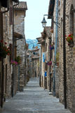 An alley of Gubbio in Umbria Royalty Free Stock Images
