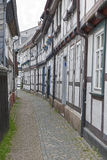 Alley With Half-timbered Houses Stock Image