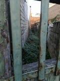 Alley hidden behind a door royalty free stock image