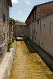 Alley in the historic center of Gubbio Royalty Free Stock Photography