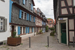 Alley with historic half-timbered houses Stock Image