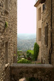 Alley in a historic village. In France Stock Photos