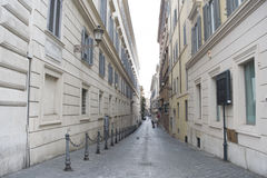 Alley in the historical centre of Rome Stock Image