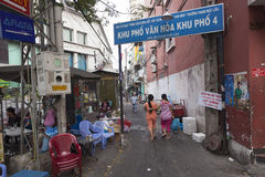 Alley in Ho Chi Minh city Royalty Free Stock Images
