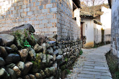 The alley in Hong village Royalty Free Stock Photo