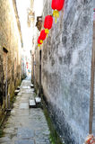 The alley in Hong village Stock Photography