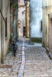 Alley of an italian mountain village Stock Photography