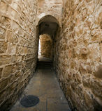 Old Jerusalem Alley. An alley in the Jewish quarter of the old city of Jerusalem, Israel Royalty Free Stock Photo