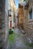 Alley in Korcula. Croatia. Stock Images