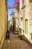 Alley in Korcula, Croatia Stock Images