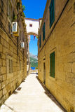 Alley in Korcula, Croatia Royalty Free Stock Photography