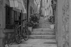 Alley in Korcula, Croatia Stock Photo