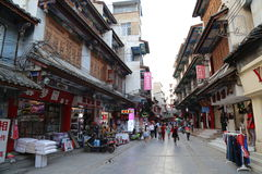 Alley in Kunming, China Royalty Free Stock Photo