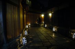 Alley with lanterns Stock Photo
