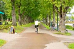 Alley in Lappeenranta at ssummer. Royalty Free Stock Image
