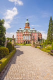 An alley leading to Ksiaz Castle. Stock Image