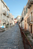 Alley in Lipari country Stock Image