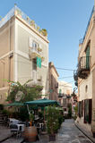 Alley in Lipari country Royalty Free Stock Photos