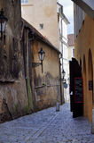 Alley in Mala Strana in Prague Royalty Free Stock Image