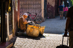 In the alley of Marrakech Medina Stock Image