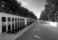 Alley of Martyrs in Upland park Stock Photos