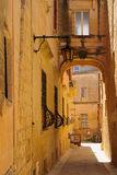 Alley in Mdina Stock Photography