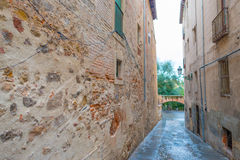 Alley in the medieval city of Segovia Stock Photo