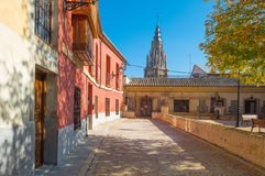 Alley in the medieval city of Toledo Stock Image