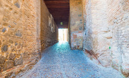 Alley in the medieval city of Toledo Stock Images