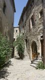Alley in medieval Perouges France royalty free stock image