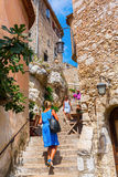 Alley in the medieval village of Eze, France Royalty Free Stock Photography