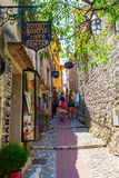 Alley in the medieval village of Eze, France Stock Photos