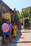 Alley in the medieval village of Eze, South France Stock Images