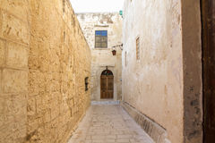 Alley in Medina, Malta Stock Images