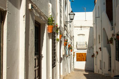 Alley in Mojacar spain Royalty Free Stock Photography
